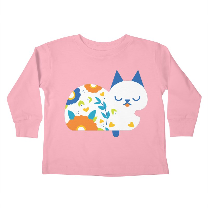 Tattoed Tabby Kids Toddler Longsleeve T-Shirt by Mixtape Comics