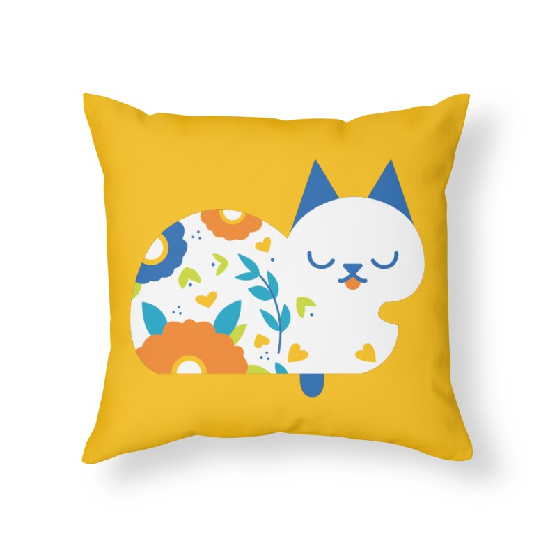 Tattoed Tabby Home Throw Pillow by Mixtape Comics
