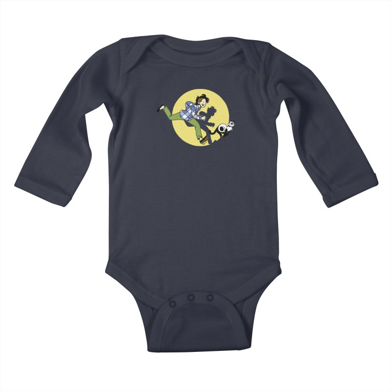 The Adventures of Frankie Kids Baby Longsleeve Bodysuit by mixtapecomics's Artist Shop