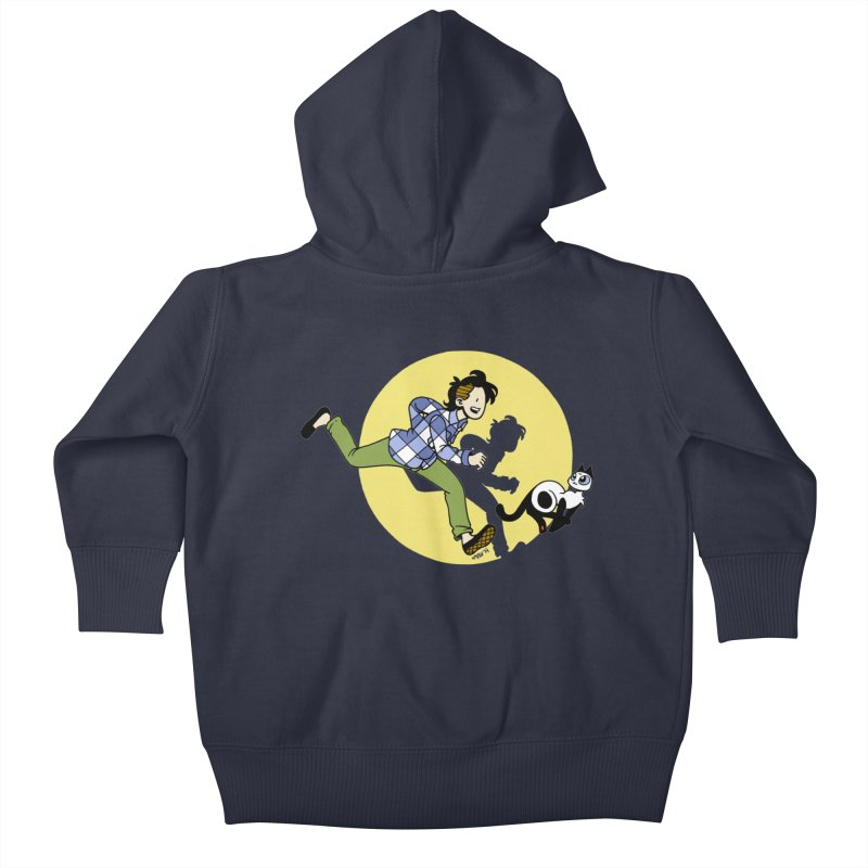 The Adventures of Frankie Kids Baby Zip-Up Hoody by mixtapecomics's Artist Shop