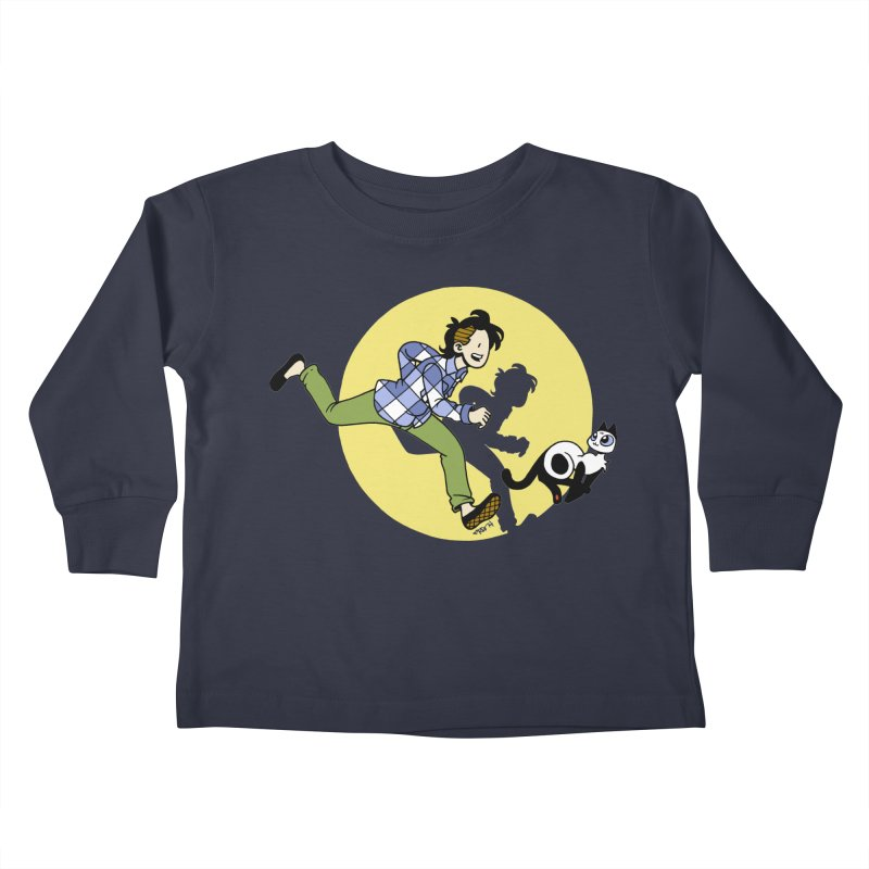 The Adventures of Frankie Kids Toddler Longsleeve T-Shirt by Mixtape Comics
