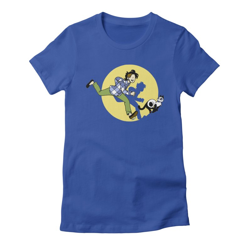 The Adventures of Frankie Women's Fitted T-Shirt by mixtapecomics's Artist Shop