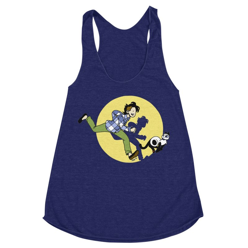 The Adventures of Frankie Women's Racerback Triblend Tank by Mixtape Comics