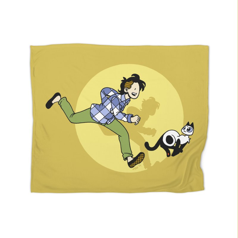 The Adventures of Frankie Home Fleece Blanket Blanket by Mixtape Comics