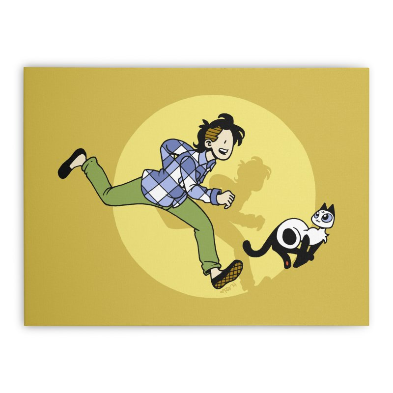 The Adventures of Frankie Home Stretched Canvas by Mixtape Comics