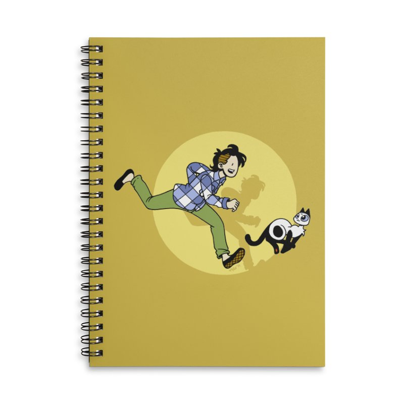 The Adventures of Frankie Accessories Lined Spiral Notebook by Mixtape Comics