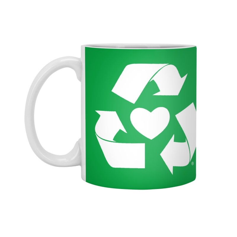 Recycle Heart Accessories Standard Mug by Mixtape Comics
