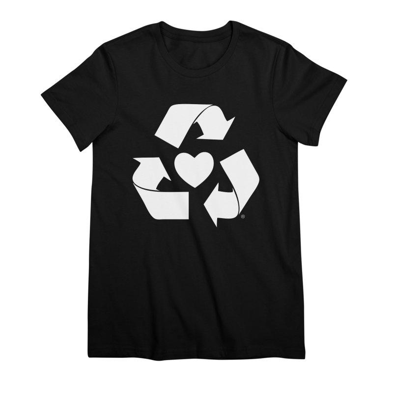 Recycle Heart Women's Premium T-Shirt by mixtapecomics's Artist Shop