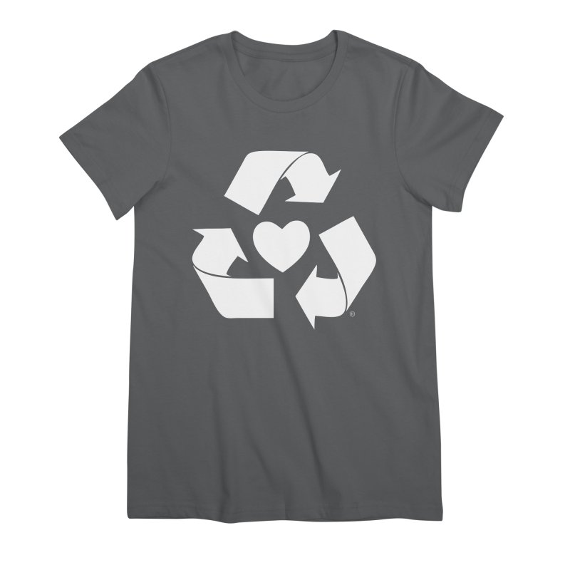 Recycle Heart Women's Premium T-Shirt by Mixtape Comics