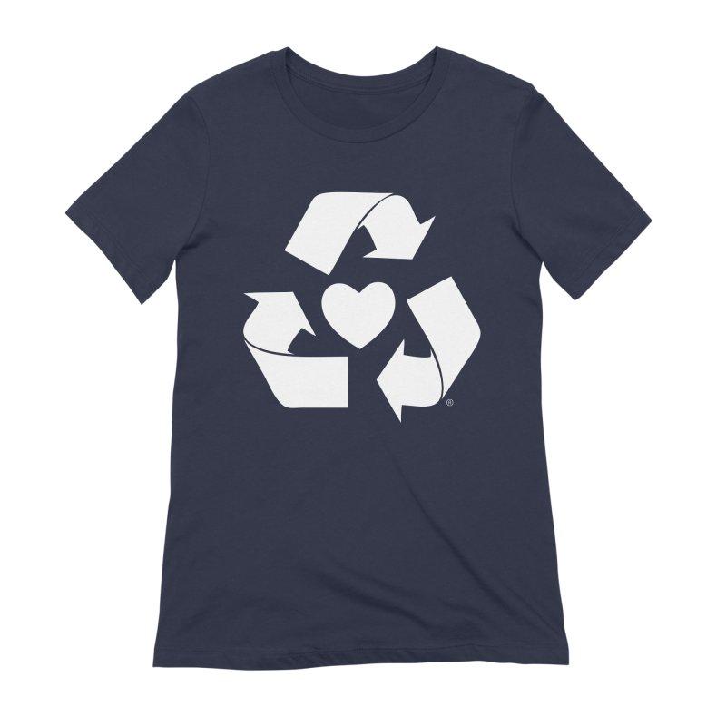 Recycle Heart Women's Extra Soft T-Shirt by Mixtape Comics
