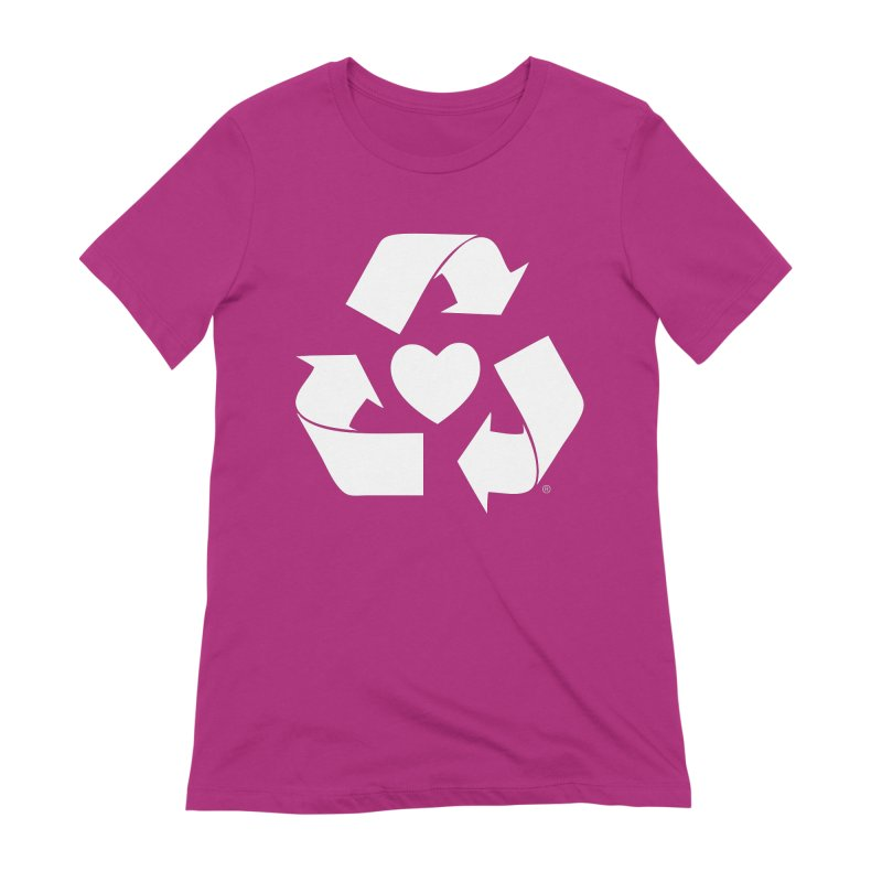 Recycle Heart Women's Extra Soft T-Shirt by Mixtape Comics