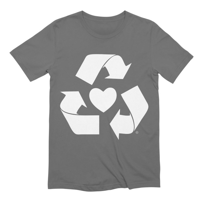 Recycle Heart Men's T-Shirt by Mixtape Comics
