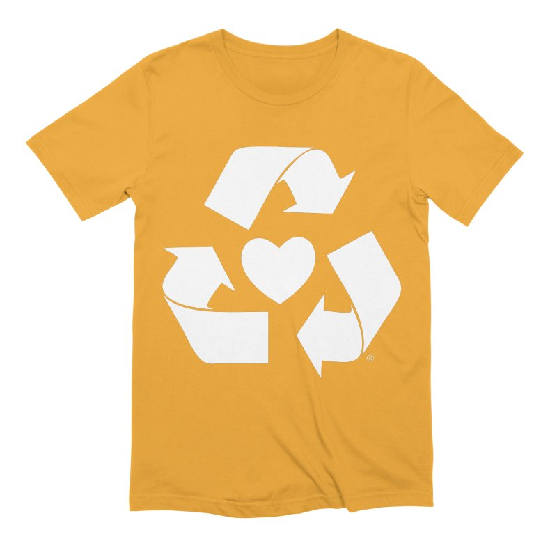 Recycle Heart Men's Extra Soft T-Shirt by Mixtape Comics