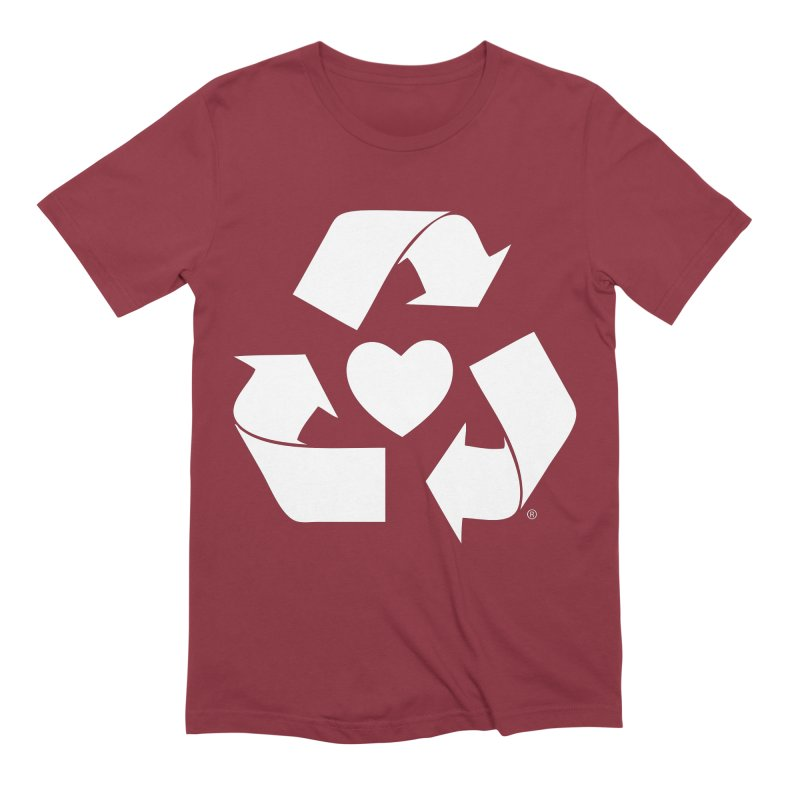 Recycle Heart Men's Extra Soft T-Shirt by Mixtape Comics