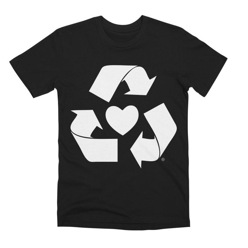 Recycle Heart Men's Premium T-Shirt by mixtapecomics's Artist Shop
