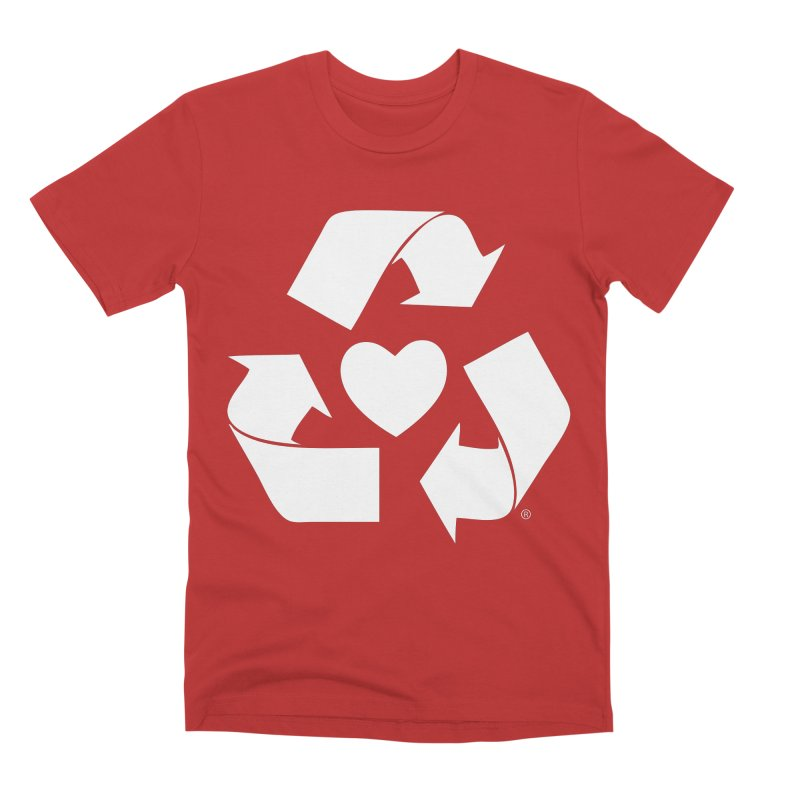 Recycle Heart Men's Premium T-Shirt by mixtapecomics's Artist Shop
