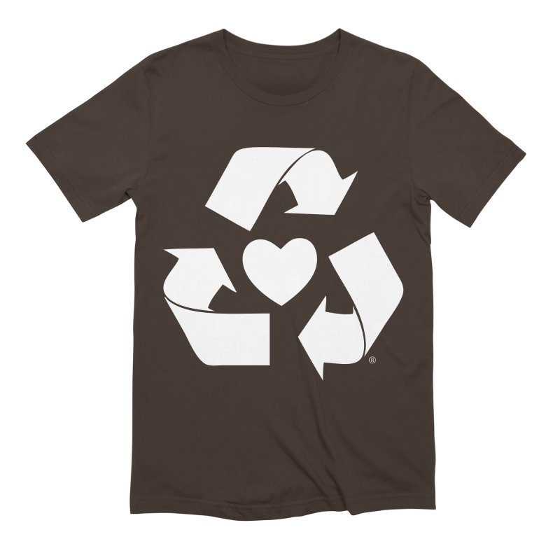 Recycle Heart Men's Extra Soft T-Shirt by mixtapecomics's Artist Shop