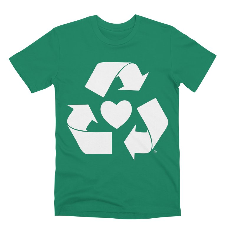 Recycle Heart Men's Premium T-Shirt by Mixtape Comics