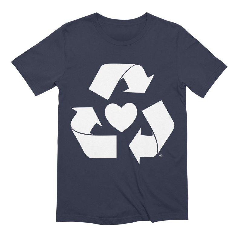 Recycle Heart Men's Extra Soft T-Shirt by mixtapecomics's Artist Shop