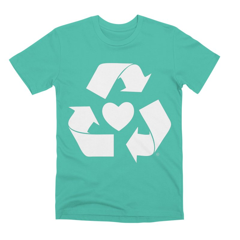 Recycle Heart Men's Premium T-Shirt by Mixtape Comics