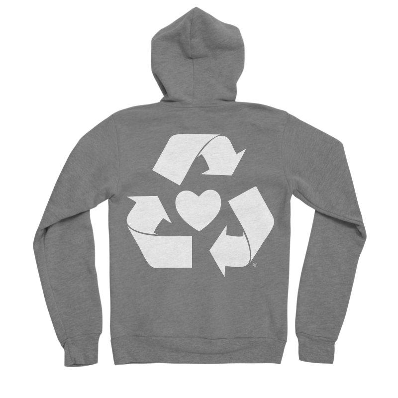 Recycle Heart Men's Sponge Fleece Zip-Up Hoody by Mixtape Comics