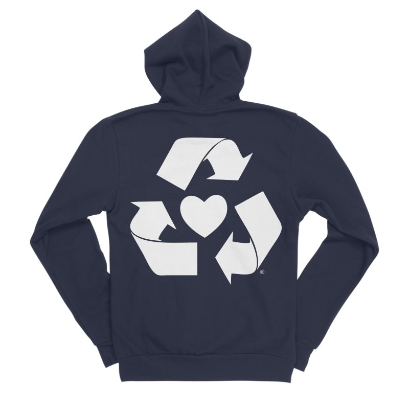 Recycle Heart Men's Sponge Fleece Zip-Up Hoody by Mixtape Comics