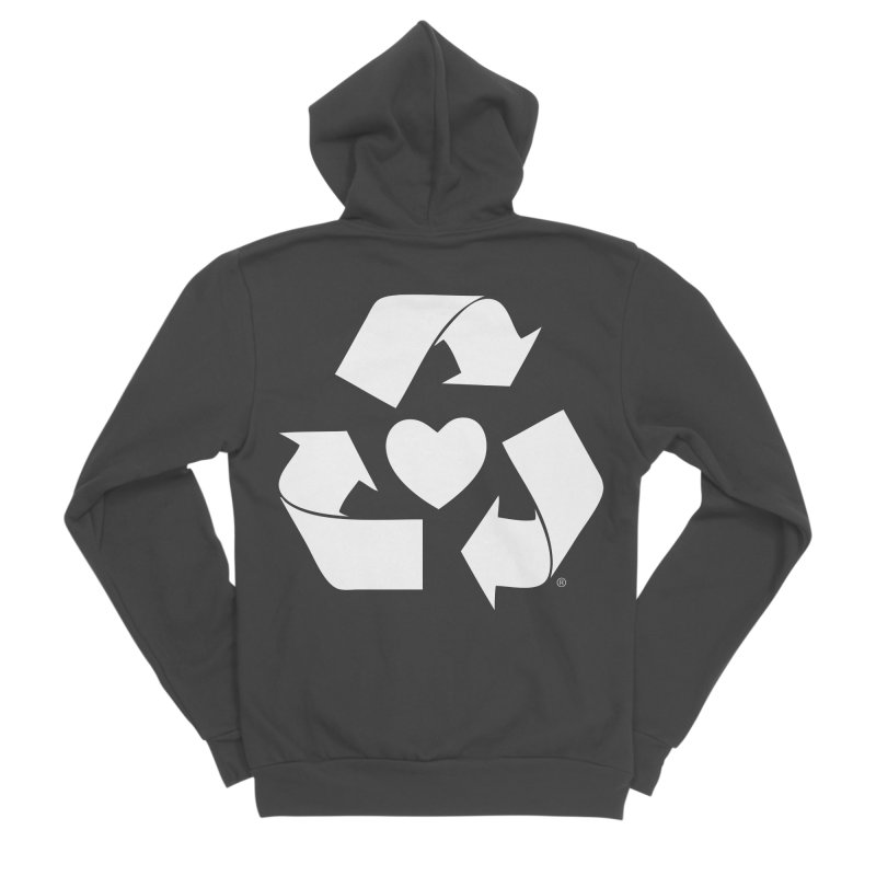 Recycle Heart Women's Sponge Fleece Zip-Up Hoody by mixtapecomics's Artist Shop