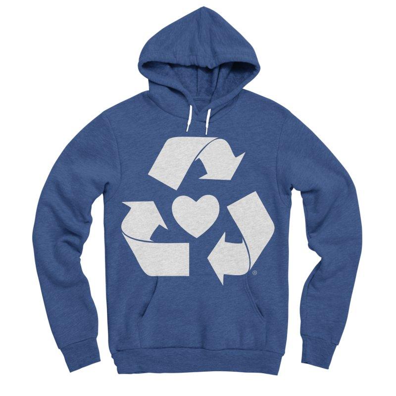 Recycle Heart Men's Sponge Fleece Pullover Hoody by mixtapecomics's Artist Shop