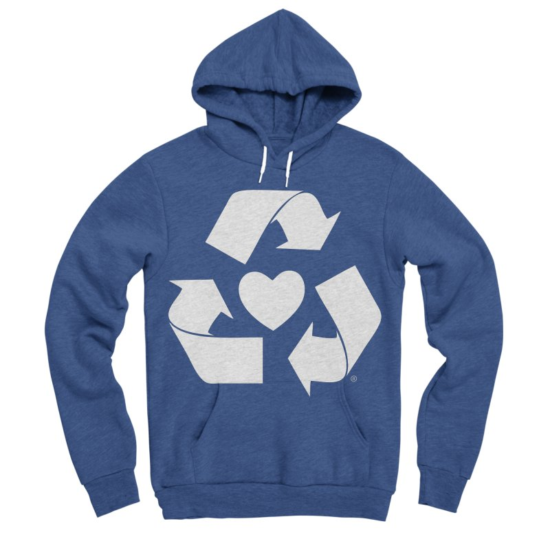 Recycle Heart Women's Sponge Fleece Pullover Hoody by Mixtape Comics