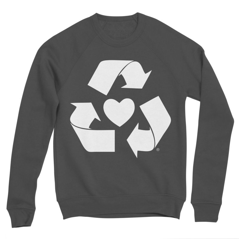 Recycle Heart Men's Sponge Fleece Sweatshirt by Mixtape Comics