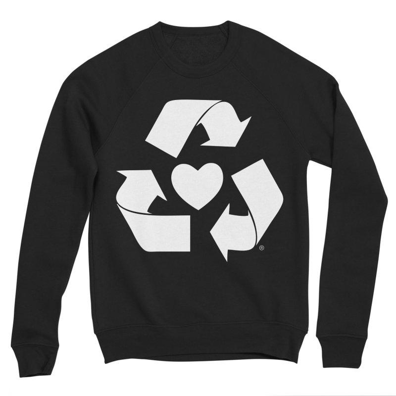 Recycle Heart Men's Sponge Fleece Sweatshirt by Mixtape Comics