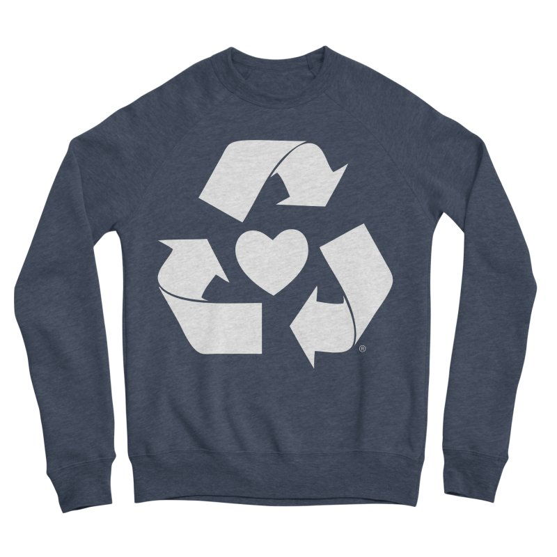 Recycle Heart Women's Sponge Fleece Sweatshirt by Mixtape Comics