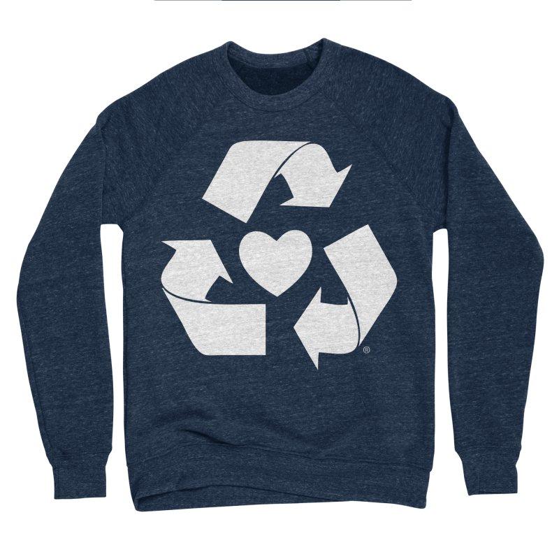 Recycle Heart Women's Sponge Fleece Sweatshirt by Mixtape Comics