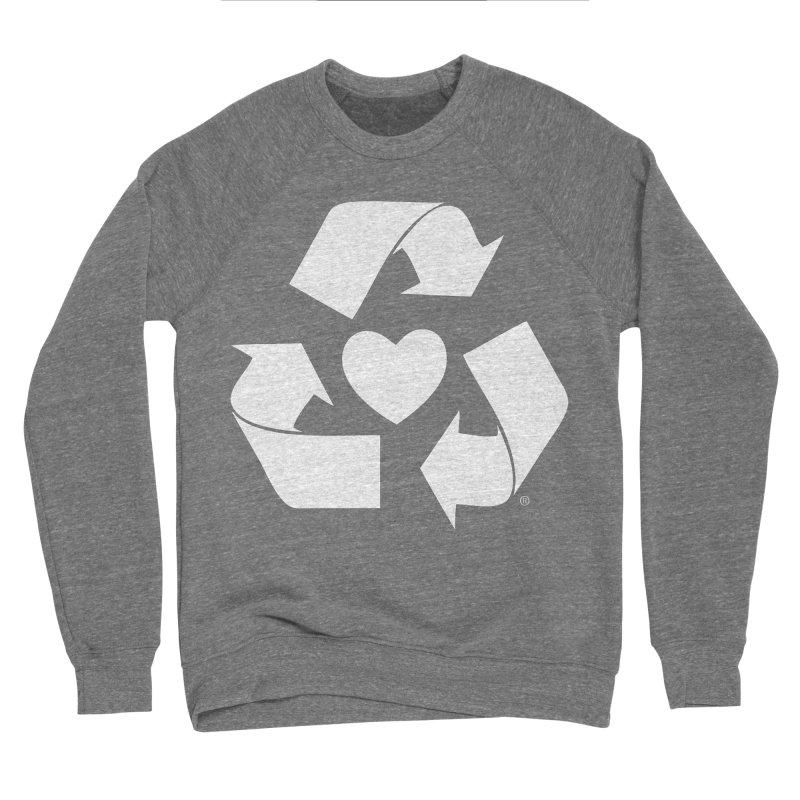 Recycle Heart Women's Sponge Fleece Sweatshirt by mixtapecomics's Artist Shop