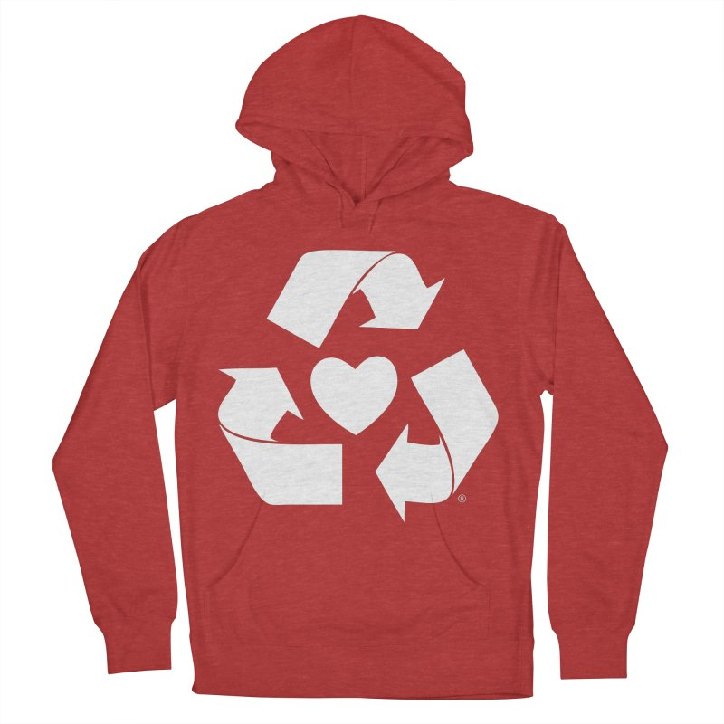 Recycle Heart Women's Pullover Hoody by mixtapecomics's Artist Shop