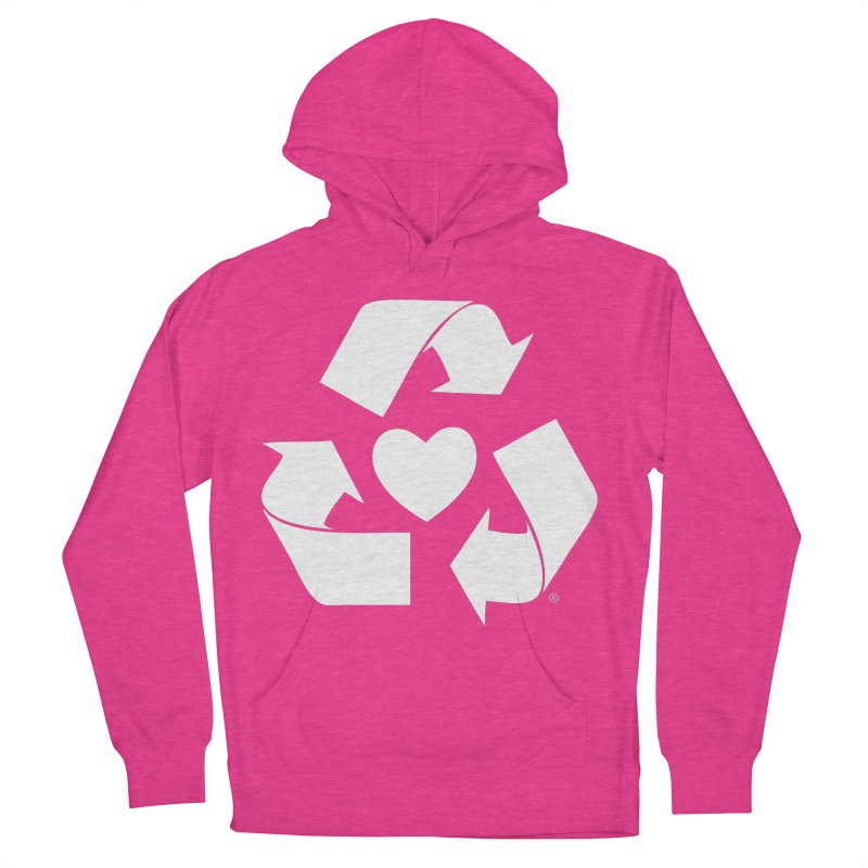 Recycle Heart Women's French Terry Pullover Hoody by Mixtape Comics