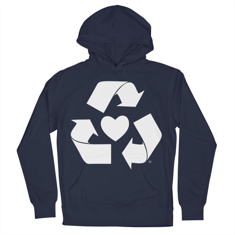 Recycle Heart Women's French Terry Pullover Hoody by mixtapecomics's Artist Shop