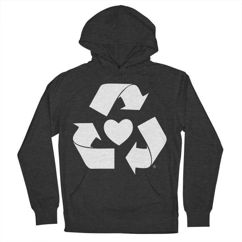 Recycle Heart Men's French Terry Pullover Hoody by Mixtape Comics