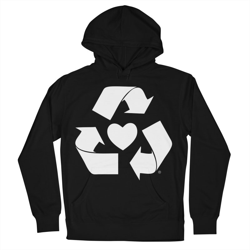 Recycle Heart Men's French Terry Pullover Hoody by mixtapecomics's Artist Shop