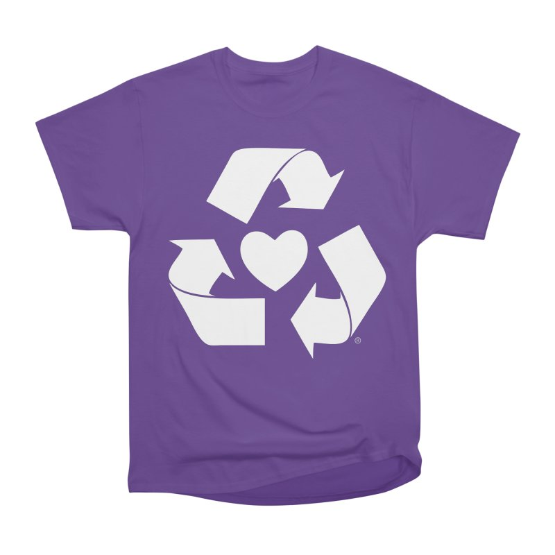 Recycle Heart Women's Heavyweight Unisex T-Shirt by Mixtape Comics