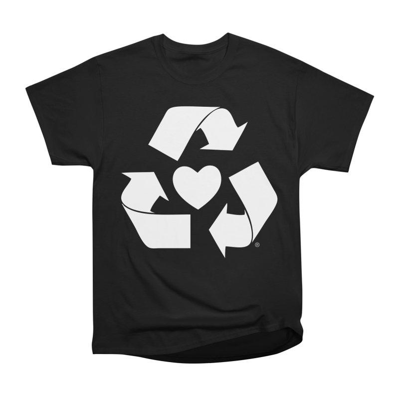 Recycle Heart Men's Heavyweight T-Shirt by mixtapecomics's Artist Shop