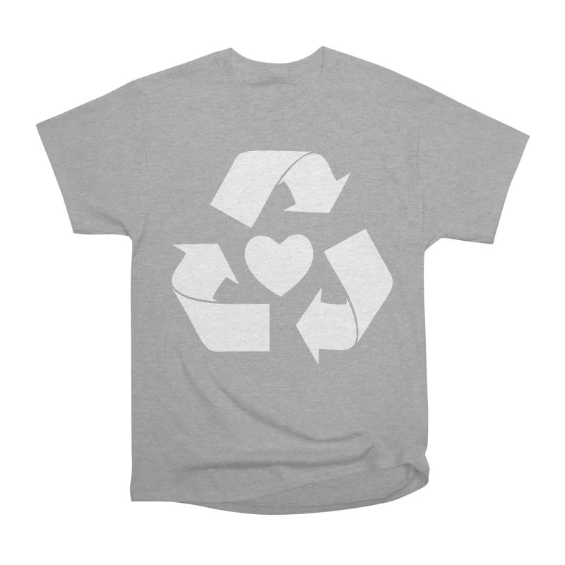 Recycle Heart Men's Heavyweight T-Shirt by Mixtape Comics