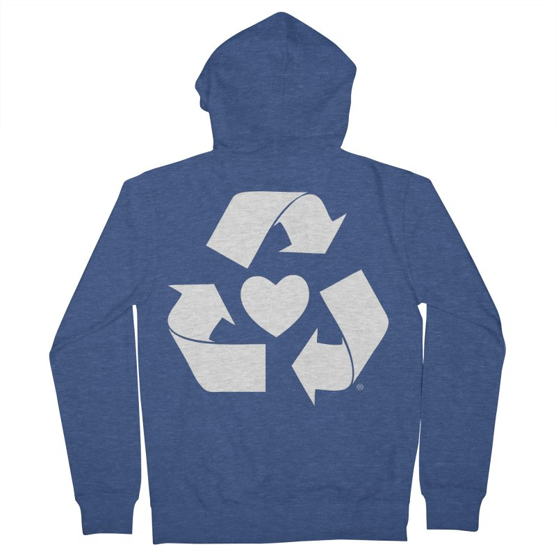 Recycle Heart Women's French Terry Zip-Up Hoody by mixtapecomics's Artist Shop