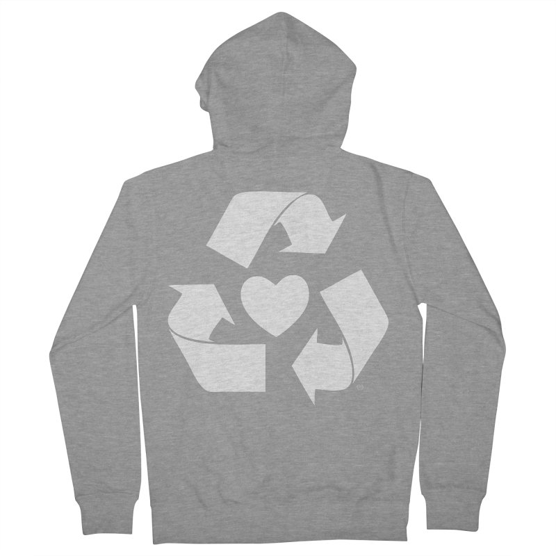 Recycle Heart Women's French Terry Zip-Up Hoody by Mixtape Comics
