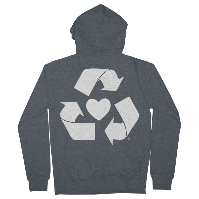 Recycle Heart Men's French Terry Zip-Up Hoody by mixtapecomics's Artist Shop
