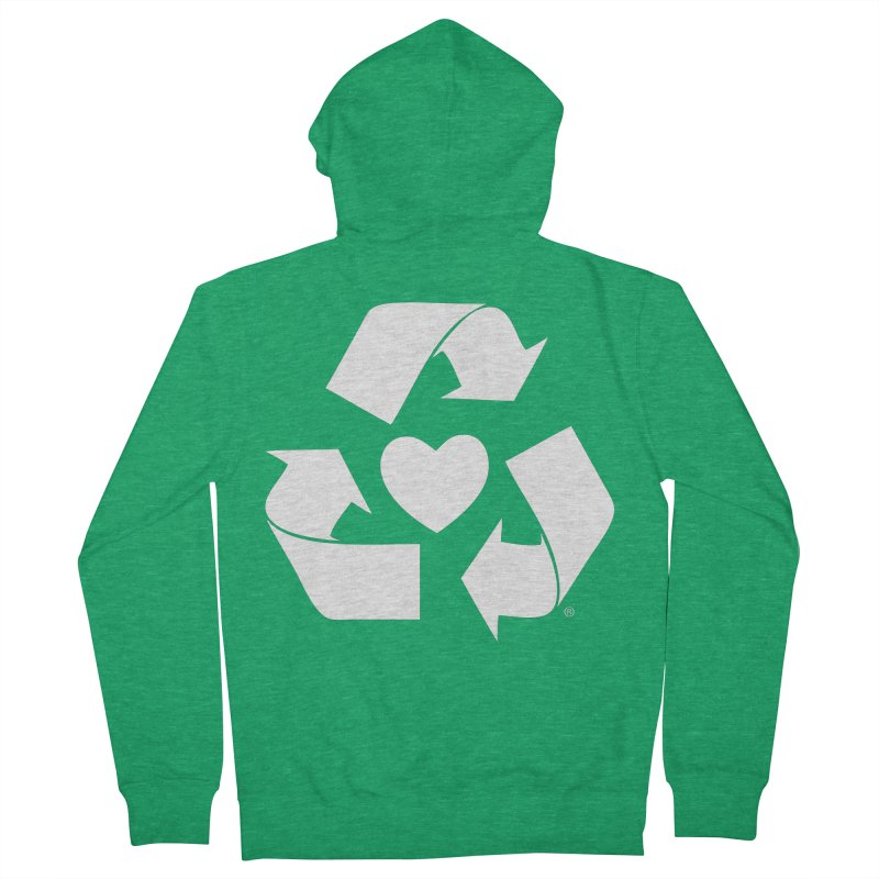 Recycle Heart Men's Zip-Up Hoody by Mixtape Comics