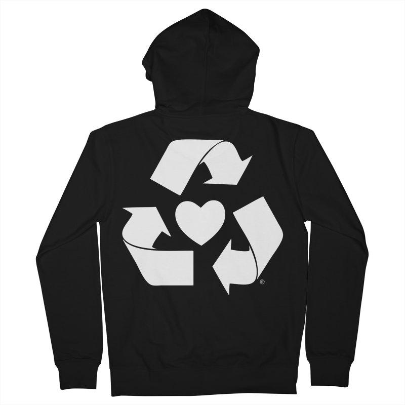 Recycle Heart Men's French Terry Zip-Up Hoody by Mixtape Comics