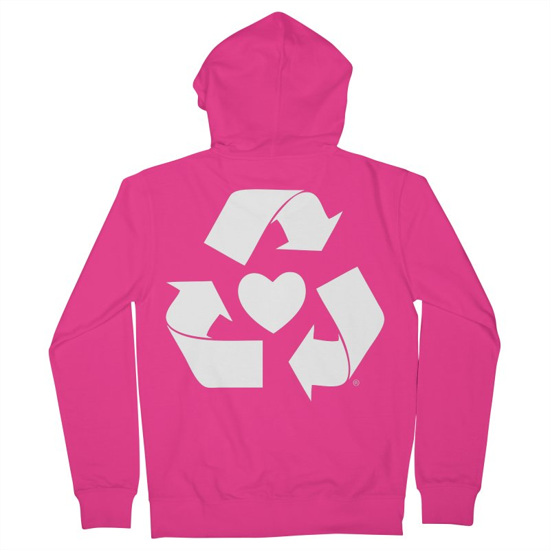 Recycle Heart Men's Zip-Up Hoody by mixtapecomics's Artist Shop