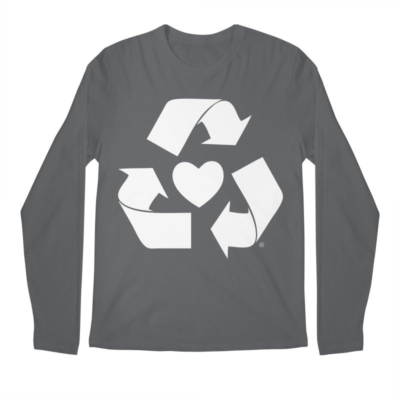Recycle Heart Men's Regular Longsleeve T-Shirt by Mixtape Comics