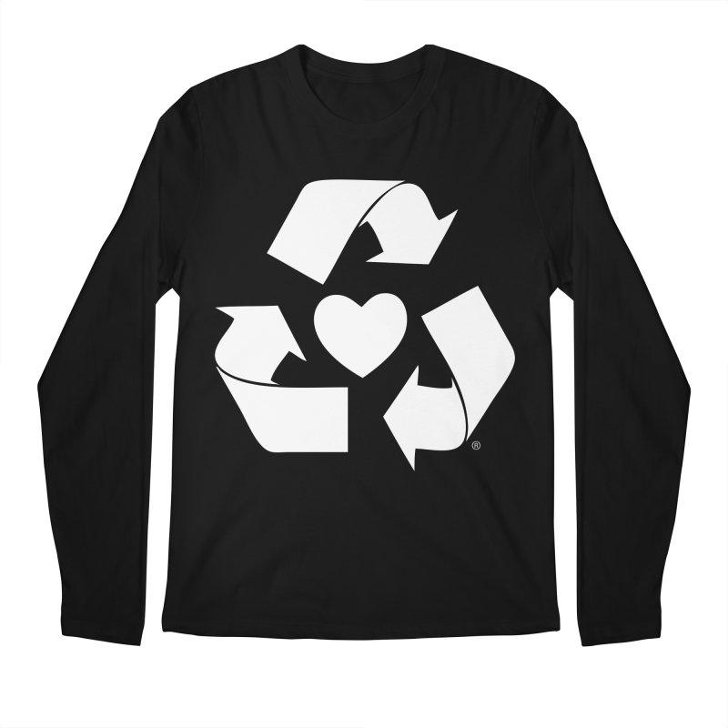 Recycle Heart Men's Regular Longsleeve T-Shirt by Mixtape Comics